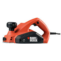 Электрический рубанок Black&Decker KW712, 650 Вт, глубина реза 0-2 мм, ширина строгания 82 мм