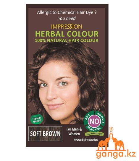 Хна для волос коричневая натуральная 100% Herbal Henna (IMPRESSION), 150 гр.