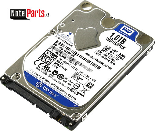 Жесткий диск для ноутбука 1Tb Western Digital, SATA 6Gb/s,2.5'', 5400rpm, 8Mb, for Notebook, фото 2