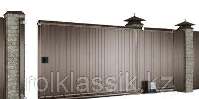 Ворота уличные 4500х2100 в алюминиевой раме с сэндвич панелями