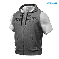 Жилет Better Bodies Raw s/l hood,темно- серый M/L