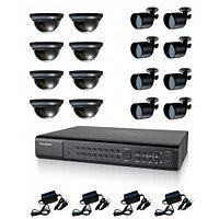 Готовый комплект видеонаблюдения из 16 камер 8х2, фото 1