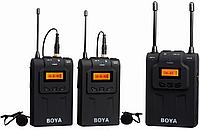 Беспроводной петличный радиомикрофон BOYA BY-WM8  (1 передатчик и 2 приёмника)