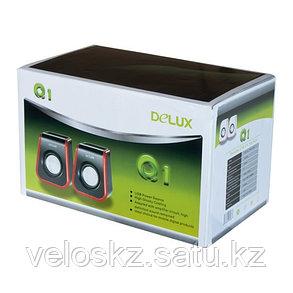 Колонки Delux DLS-Q1UR, Чёрно-Красный, фото 2