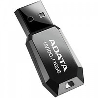 "USB-флеш-накопитель ""A-DATA  USB Dash Drive 2.0       16GB  Slim Bevelled  M:UV100 Black"""
