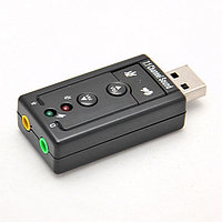 "Звуковая карта ""USB  Sound   Blaster  Support 3D  7.1 CH"""