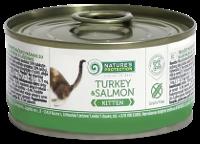 Влажный корм для котят Nature's Protection Kitten Turkey & Salmon с индюком и лососью