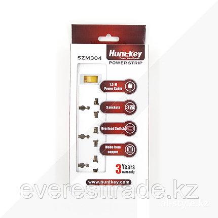 Сетевой фильтр HuntKey SZM304, 3 универсальные розетки, 1,5 м, фото 2