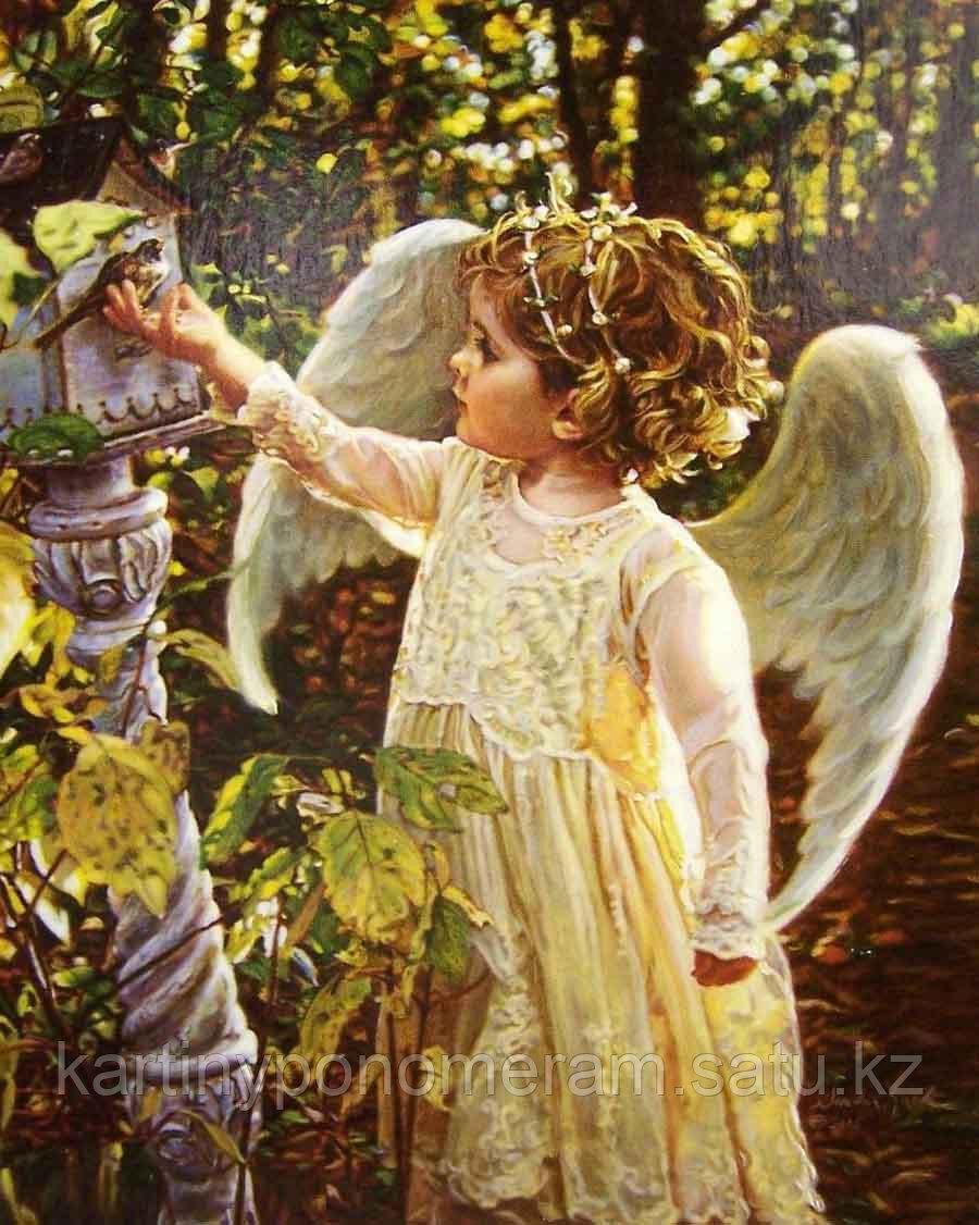 """Картина по номерам """"Ангел с птицей"""""""