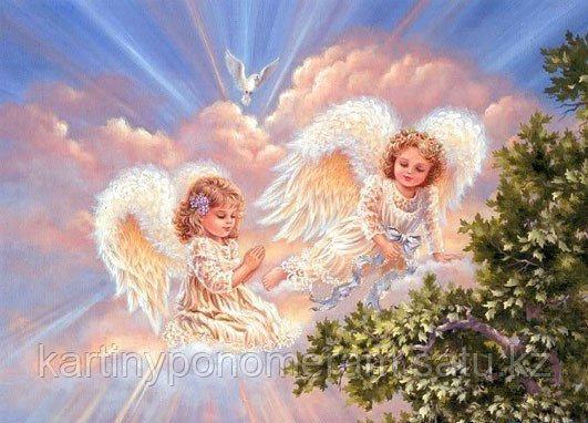 """Картина по номерам """"Ангелы в лучах солнца"""""""