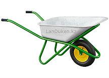Тачка садово-строительная одноколесная усиленная грузоподъемность 200 кг объем 90 л  689183 (002)