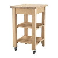 Столик с колесами БЕКВЭМ береза ИКЕА, IKEA