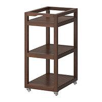 Тележка МОЛЬГЕР темно-коричневый ИКЕА, IKEA