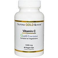 California Gold Nutrition, Витамин C, Quali-C Европейского производства, 1000 мг, 60 капсул.