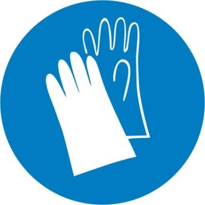 """Знак """"Работать в защитных перчатках"""""""