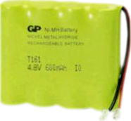 Аккумулятор GP T 161  4,8v  600mAh
