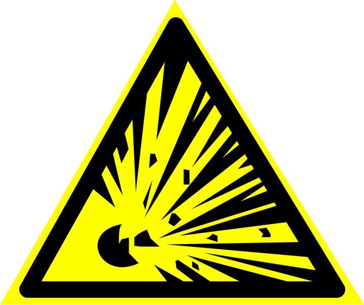 """Знак """"Взрывоопасно"""""""