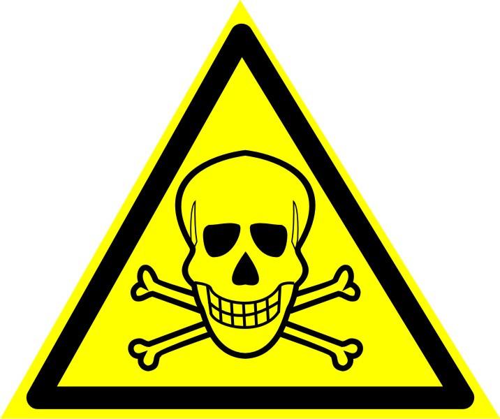 """Знак """"Опасно.  Ядовитые вещества"""""""