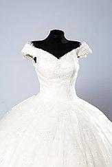 Свадебное платье в со шлейфом