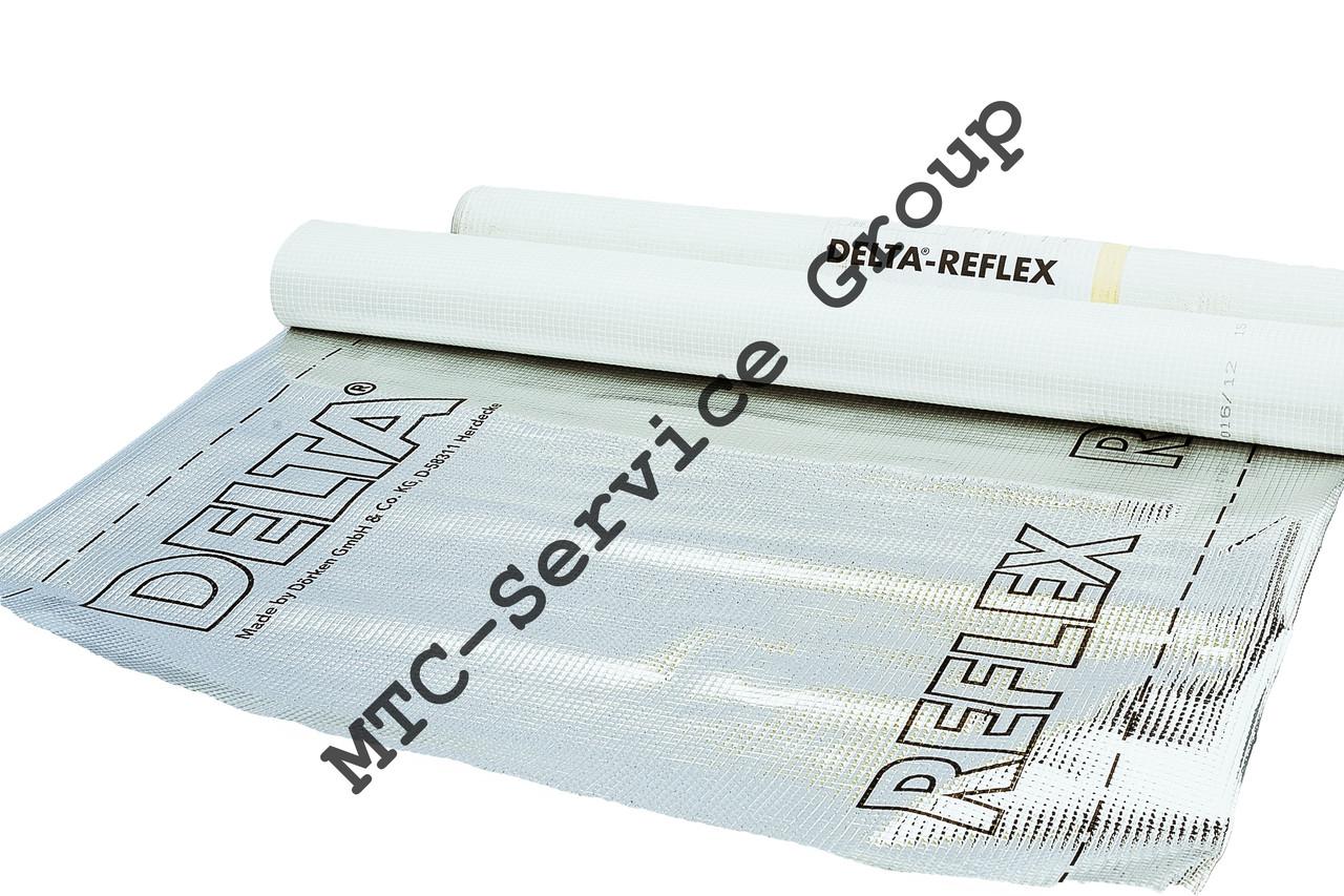 Пароизоляционная мембрана Delta Reflex (армированная, фольгированная )