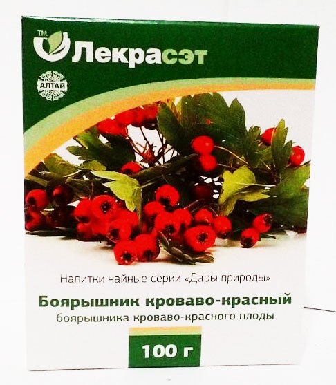 Боярышник кроваво- красный плоды, 100 г