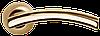 Дверная ручка Morelli MH-12 SG/GP Матовое золото/золото