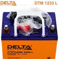 Delta аккумуляторная батарея DTM 1233 L (12 лет), фото 1