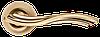 Дверная ручка Morelli MH-14 SG/GP Матовое золото/золото