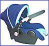 Автокресло спортивное синее