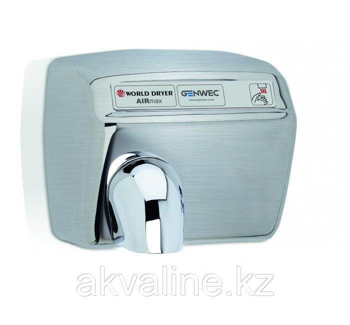Сушилка для рук из нержавеющей стали,управление ручное с помощью кнопки,матовая Airmax