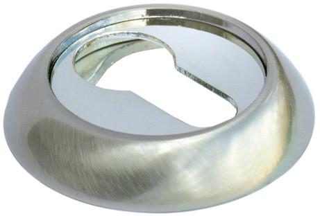 Накладка на ключевой цилиндр Morelli MH-KH SN/CP Белый никель/полированный хром