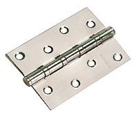 Дверная петля стальная универсальная Morelli MS 100X70X2.5-4BB SN (цвет: никель), фото 1
