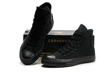 Кеды Cоnverse All Star Black, полностью черные, Высокие, фото 3