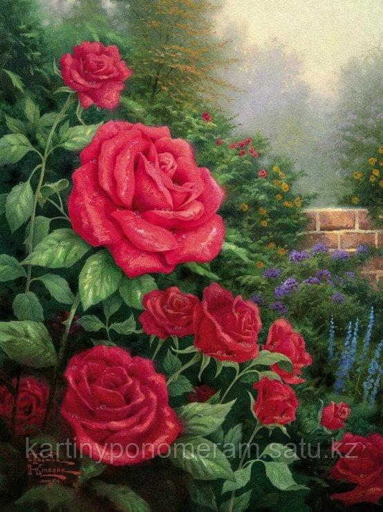 """Картина по номерам """"Сад с розами"""""""