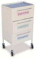 Столик медицинский передвижной с тремя выкатными ящиками СМИ 010