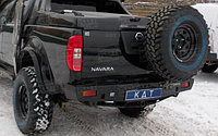 Задний силовой бампер KDT Nissan Navara, фото 1