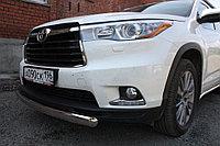 Toyota Highlander 2014- Защита передняя (ОВАЛ) D 75х42, фото 1