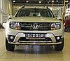 Защита переднего бампера Renault Duster 2015- двойная D 60,3/42,4