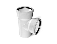 Тройник ПВХ канализационный (90°) 3.2 mm д100/100
