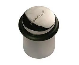 Дверной ограничитель Morelli DS3 CP. Предназначен для ограничения хода двери. Сохраняет от повреждений дверь и прилегающее к ней покрытие стены.