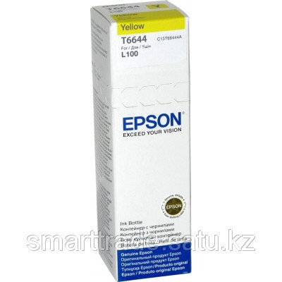 Чернила Epson C13T66444A L100 Yellow ink bottle70 ml, фото 2