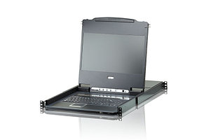 ATEN 8-Port KVM с ЖК дисплеем и интерфейсом DVI