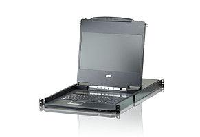 KVM коммутатор с ЖК дисплеем и интерфейсом DVI ATEN 8-Port