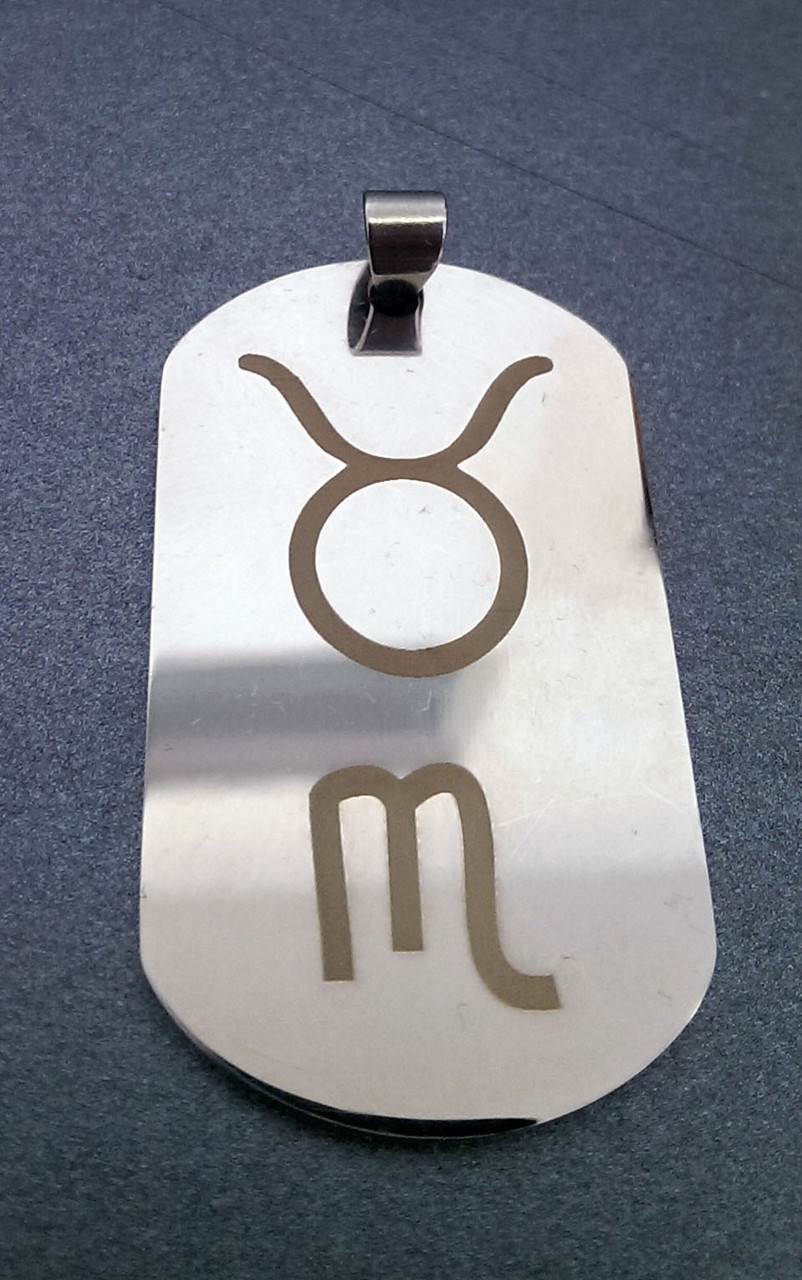 Лазерная гравировка на жетоне