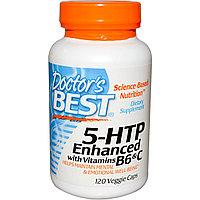 Doctor's Best, ТРИПТОФАН (усиленный)5-HTP, усиленный витаминами B6 и C, 120 капсул.