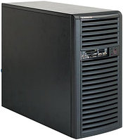 "Корпус Supermicro CSE-731D-300B Mini tower chassis, 9.6"" x 9.6"" micro-ATX, 4x3.5"" Card Reader/USB/1394/eSATA/300W"