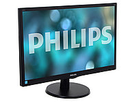 "Монитор 23.6"" Philips 243V5LAB/00(01) Black Hairline WLED, 1920x1080, 5ms, 250 cd/m2, 1000:1 (DCR 10M:1), D-Sub, DVI-D, speakers, Headph.Out, vesa"
