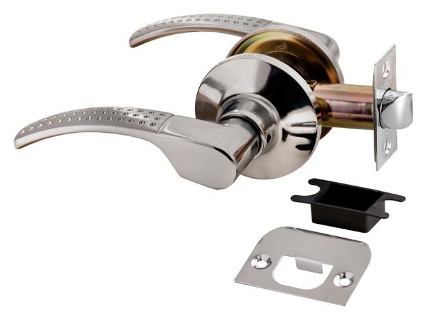 Дверная ручка-кноб без фиксатора Rucetti HK-04 SC/CP