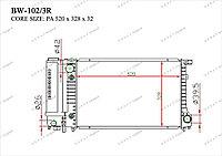 Радиатор основной Great BMW Series 5. E34 1988-1995 2.0i 17111712986