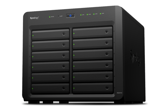 Synology DS2415+ 12xHDD NAS-сервер «All-in-1» (до 24-ти HDD модуль DX1215 до 144ТБ)